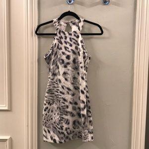 Parker Leopard Print Sequin Dress